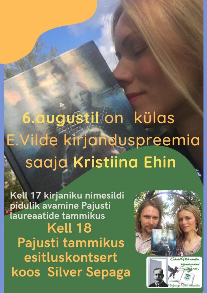 E.Vilde kirjandusprremia saaja Kristiina Ehin